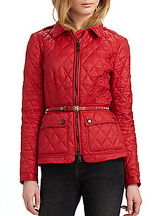 Burberry Studded-Belt Quilted Jacket