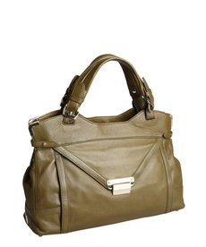 Kooba dark olive expandable flap close 'Kiley' large satchel