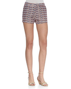 Merci Printed Flax Shorts   Merci Printed Flax Shorts