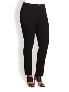 Marina Rinaldi, Sizes 14-24 Zip-Front Pants
