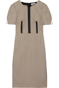 Jil Sander Paneled stretch-cotton dress