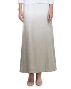 Lafayette 148 New York Hailey Dip-Dye Linen Maxi Skirt