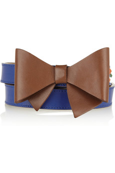 M Missoni Bow-embellished studded leather belt