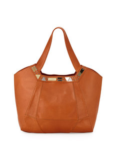 Foley + Corinna Iron Horse Studded Leather Tote Bag, Whiskey