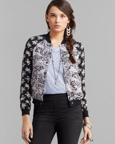 Free People Jacket - Floral Print Baseball
