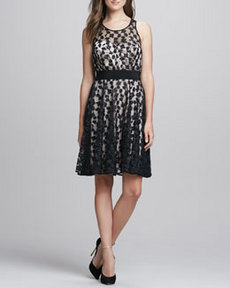 Lace-Overlay Sweetheart Dress   Lace-Overlay Sweetheart Dress
