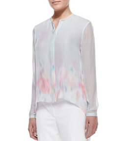 Alejandra High-Low Print Blouse   Alejandra High-Low Print Blouse