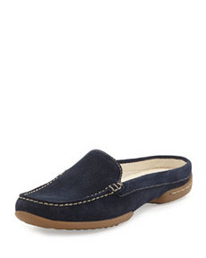 Donald J Pliner Veni Perforated Suede Slide, Navy