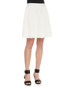Rebecca Taylor Pleated Stretch-Jersey Skirt