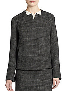 Calvin Klein Collection Wool Tweed Check Jacket