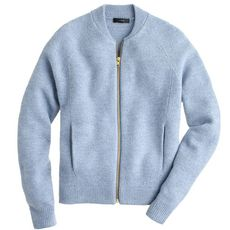 Wool bomber sweater-jacket