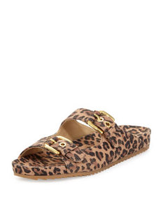 Freely Leopard-Print Buckled Sandal   Freely Leopard-Print Buckled Sandal
