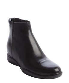 Prada black leather side zip ankle boots