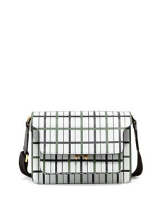 Marni Striped Triple-Gusset Flap Shoulder Bag