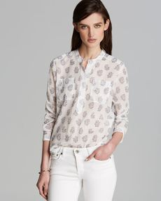 Rebecca Taylor Top - Block Print Double Pocket