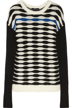 Tibi Patterned chunky-knit sweater
