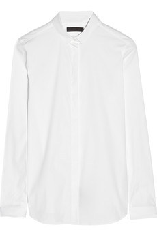 Burberry Prorsum Stretch cotton-blend poplin shirt