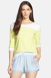 Joie 'Abina' Bateau Neck Stripe Cotton Sweater