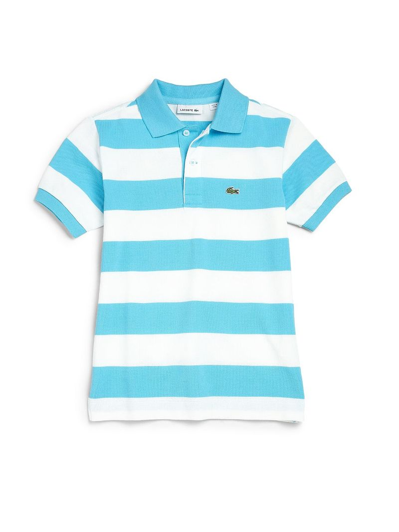 Lacoste lacoste boy 39 s striped pique polo shirt sizes 16 for Lacoste stripe pique polo shirt