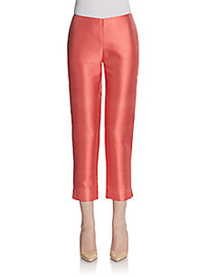 Lafayette 148 New York Stanton Cotton & Silk Cropped Pants