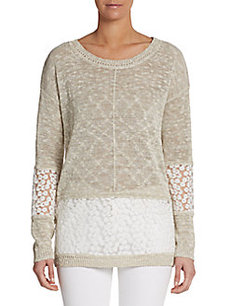 French Connection Laila Lace Knit Top