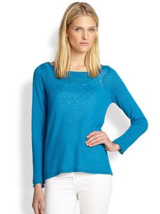 Eileen Fisher Linen Boatneck Top