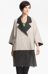 Tracy Reese Laminated Linen Blend Coat