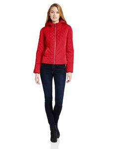 Calvin Klein Women's Quilted Zip-Front Jacket