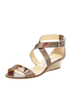 Chiara Demi-Wedge Crisscross Sandal   Chiara Demi-Wedge Crisscross Sandal