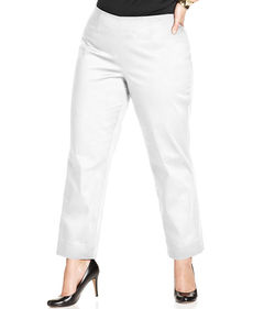 Charter Club Plus Size Side-Zip Straight-Leg Pants