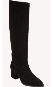 Miu Miu Suede Pointed Toe Knee Boot