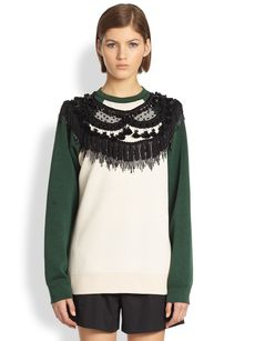 Marc Jacobs Fringed Crewneck Sweatshirt