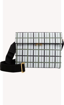 Marni Plaid Bandoleer Bag