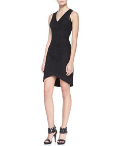 Cynthia Steffe Aviana Faux-Leather & Lace Dress