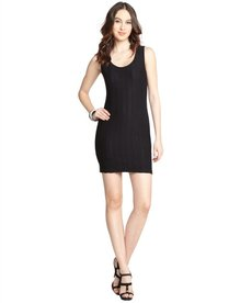 Rag & Bone black textured stretch knit 'Emma' shift dress