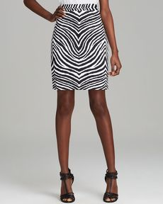 MILLY Skirt - Zebra Print Pencil