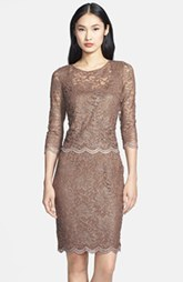 Alex Evenings Mock Two-Piece Lace Sheath Dress