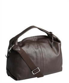 Furla dark chocolate pebbled leather 'Elisabeth' hobo