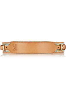 M Missoni Woven and leather belt