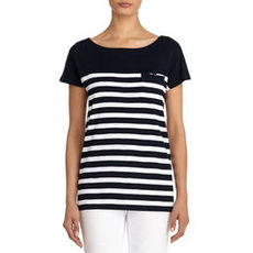 Cotton Boat Neck Tee Shirt (Plus)