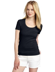 Three Dots Women's Short-Sleeve Scoop-Neck Tee