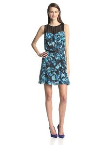Kensie Women's Layered Flowers Dress