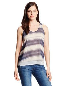 Calvin Klein Jeans Women's Stripe High Low Tank