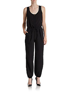 Saks Fifth Avenue BLACK Drawstring Jumpsuit