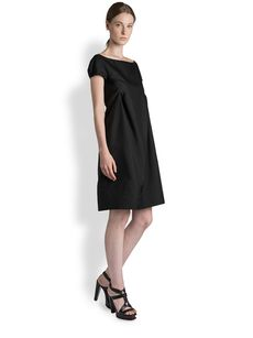 Jil Sander Silk Report Tuck Dress
