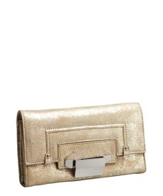 Kooba light gold leather 'Turn Lock' wallet