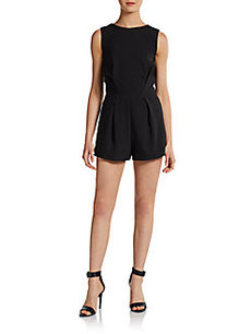 Saks Fifth Avenue RED Sleeveless V-Back Short Jumpsuit