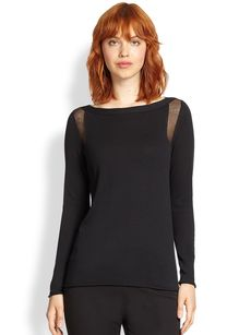 Lafayette 148 New York Sheer-Detail Top