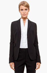 Akris punto Two Button Long Wool Jacket