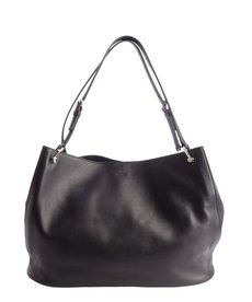 Tod's black calfskin large 'Horse' shopping tote